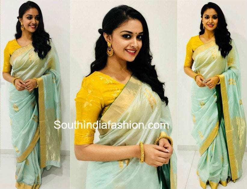f61bcd9c658b3 Keerthy Suresh in Raw Mango – South India Fashion