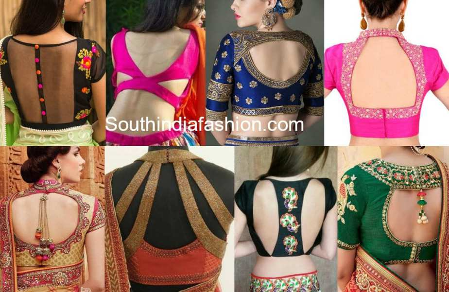 blouse back neck models catalogue