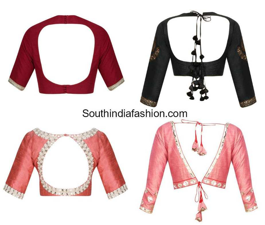 trendy and stylish blouse back neck designs 2018
