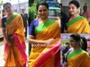 manju warrier silk saree bhavana wedding