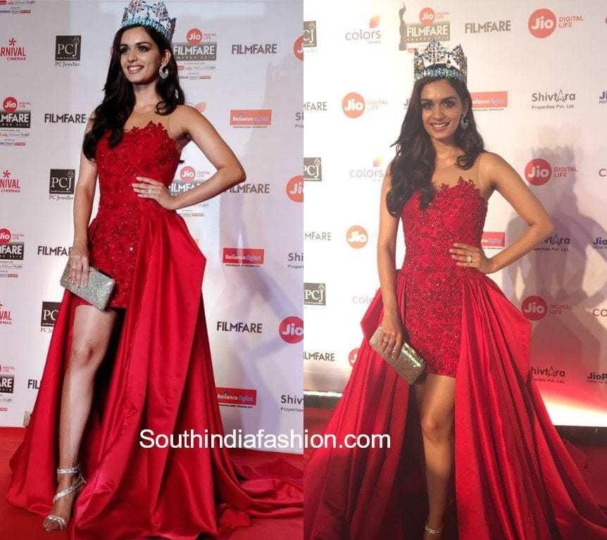 manushi chillar at jio filmfare awards 2018