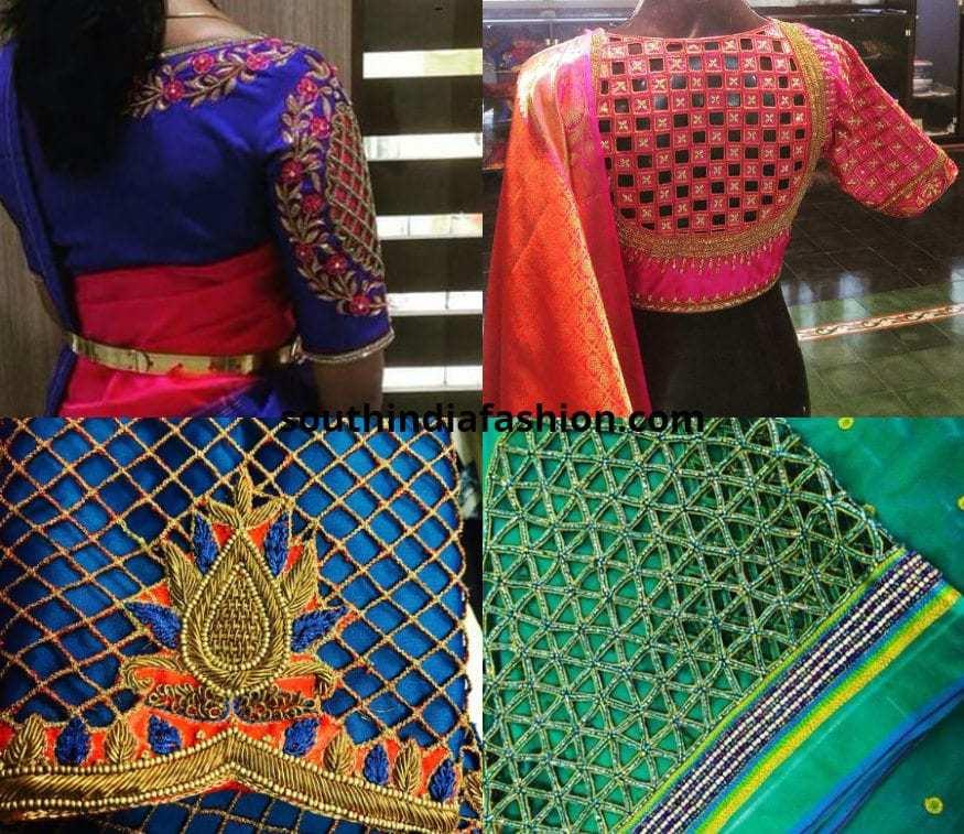 Bridal mesh style cutwork blouses