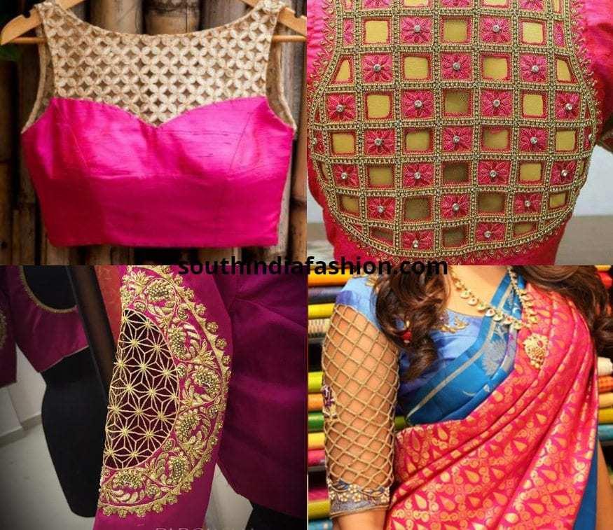 31f03e7891d3a mesh style cutwork blouses Bridal mesh style cutwork blouses