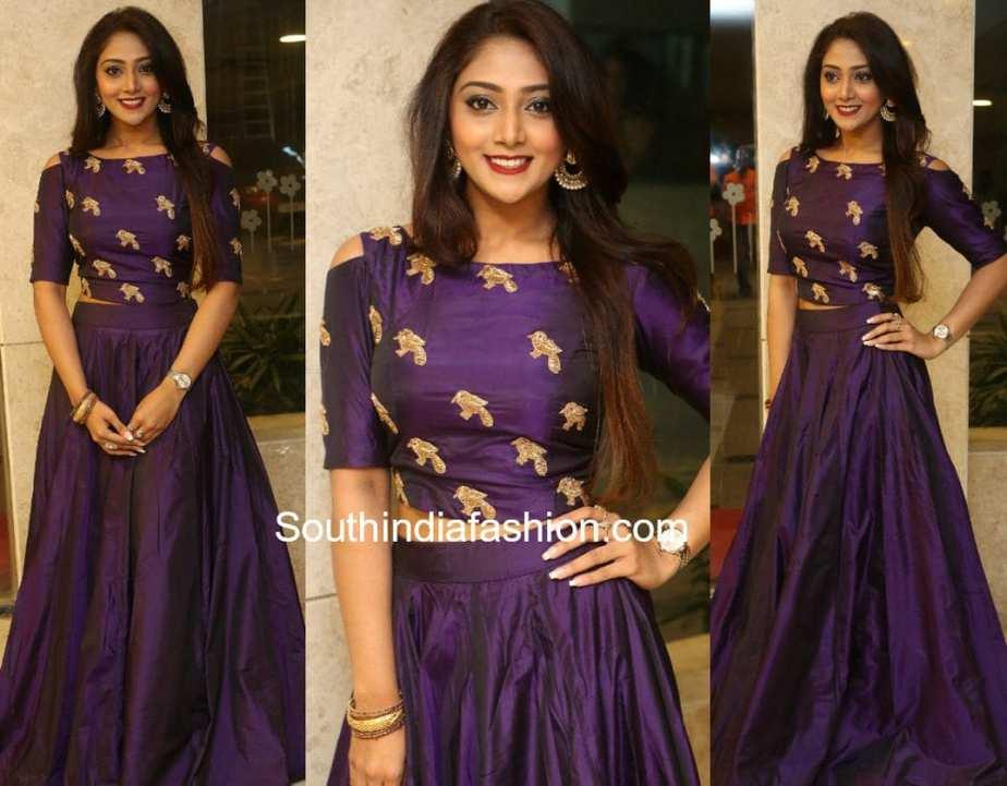 natasha doshi long skirt crop top