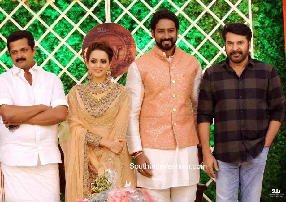 actress bhavan naveen wedding reception