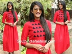 niharika konidela red maxi dress
