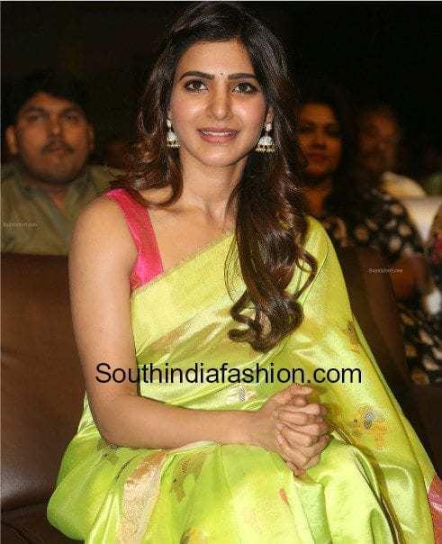 pattu saree with sleeveless blouse