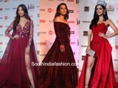 pooja hegde, kajol and manushi chillar at jio filmfare awards 2018