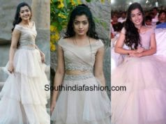 rashmika mandanna dress at chalo movie pre release function