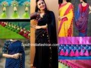 saree tassel designs kuchulu designs saree pom poms