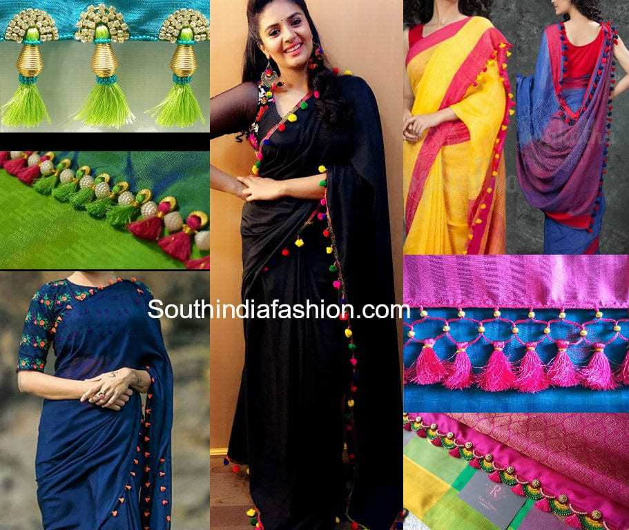 interesting saree tassels  have you done this yet