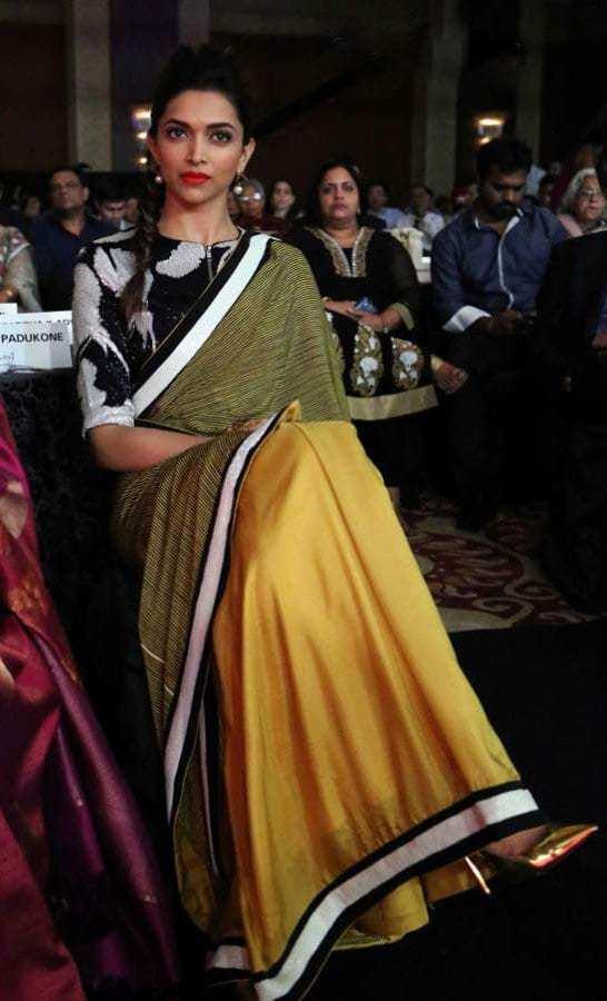 saree with heels actress
