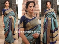 shilpa reddy in pattu saree at gudi sambaralu 2018