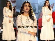 actress shirya saran in white anarkali gayatri audio launch