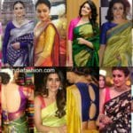 30 Super Simple and Trendy Blouse Designs For Silk Sarees