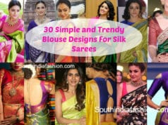 30 simple silk saree blouse designs