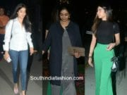 sridevi kapoor with daughters at airport