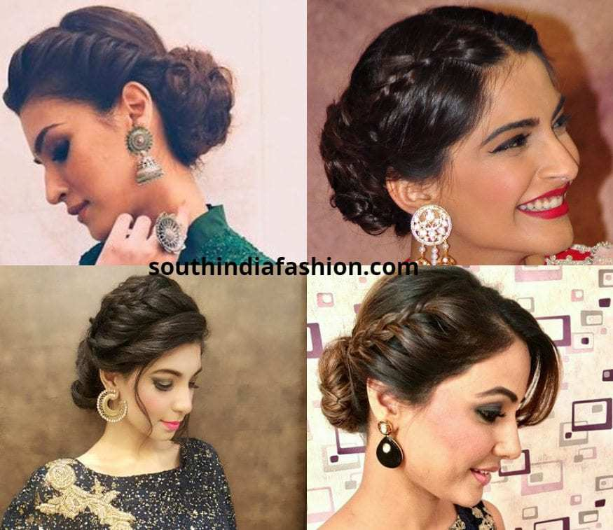 Braided Updo For Anarkalis