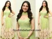 tamanna bhatia in green anarkali by neeta lulla