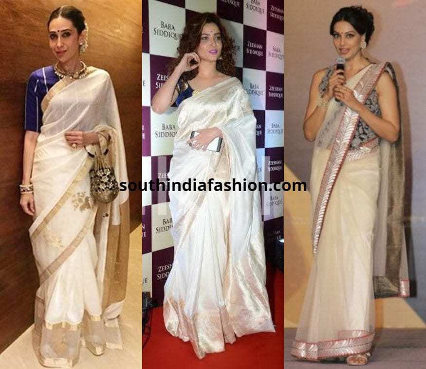 0b2d717c366547 Top 10 Blouse Options to Pair With White Sarees