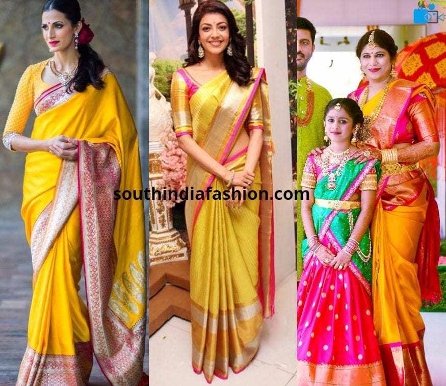 Yellow Silk Sarees