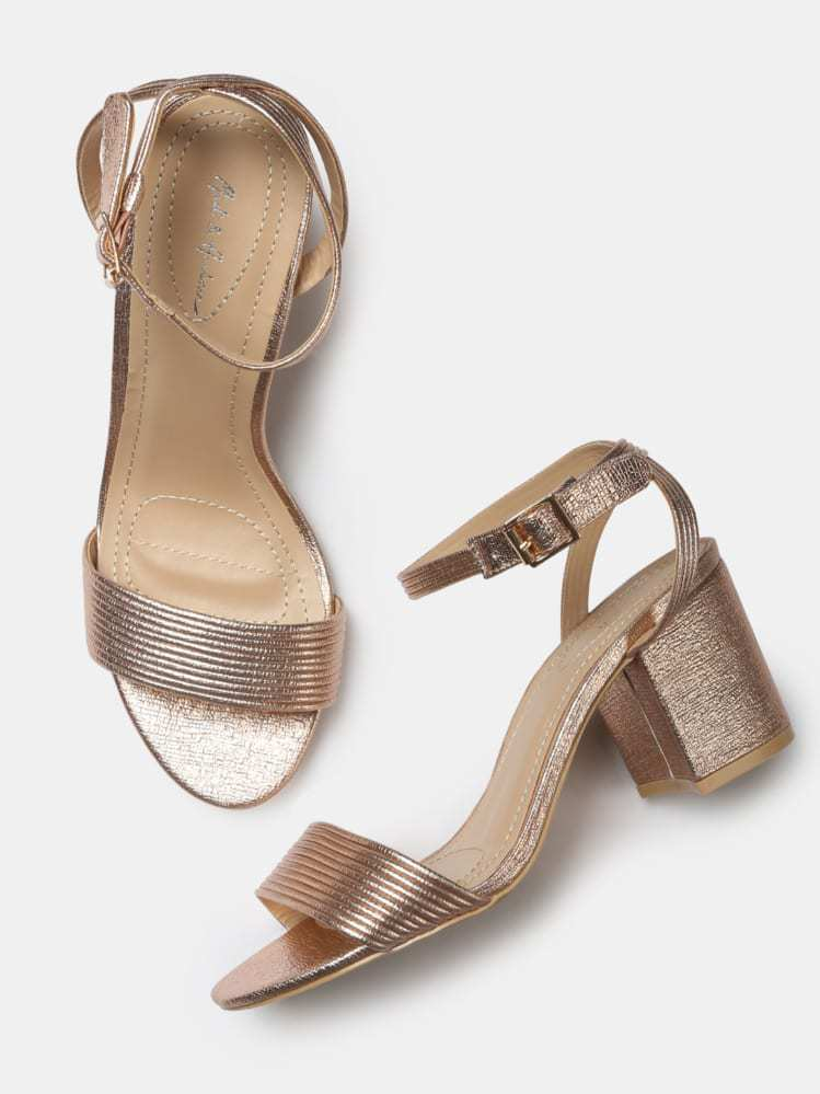 06707e59ba 15 Pretty Golden Heels and Sandals For Indian Ethnic Wear - Shop ...