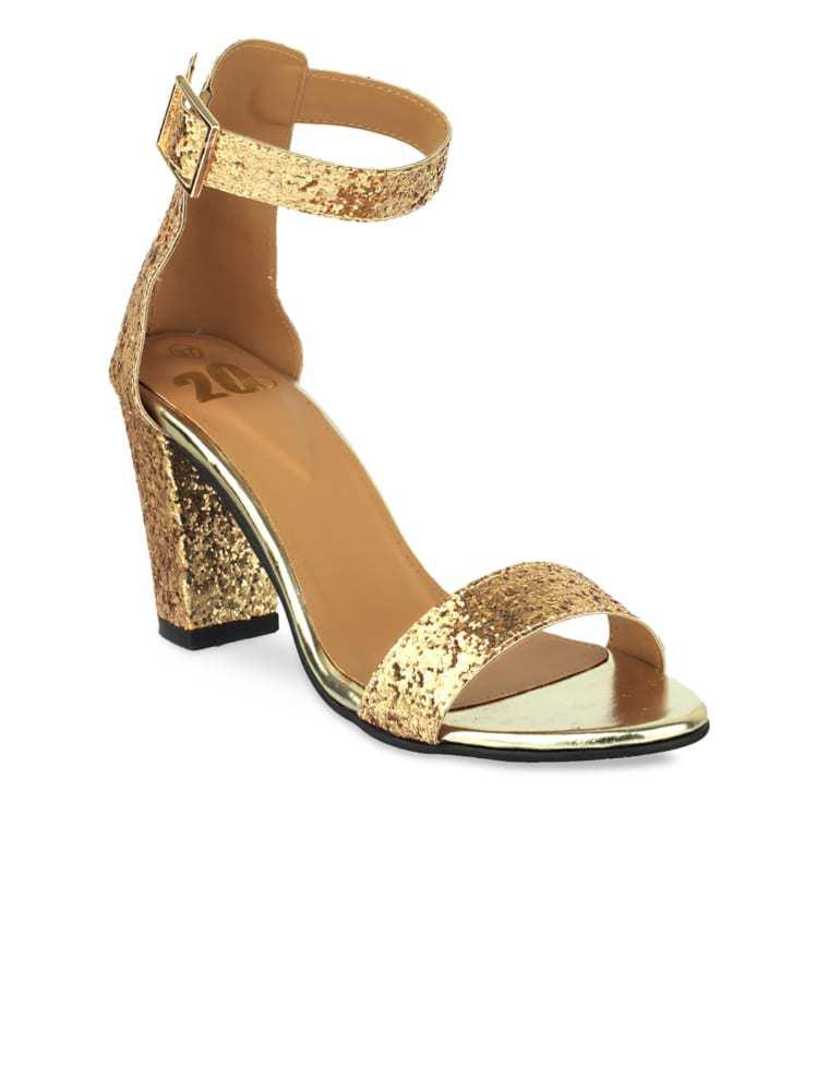 Golden High Heels Online India