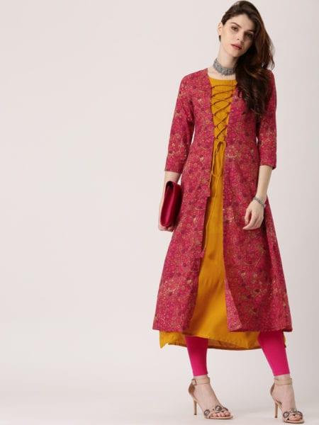 15 Stylish Latest Double Layered Kurtis Online Shopping