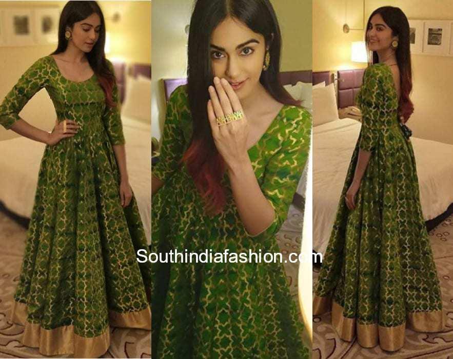 Adah Sharma in Ritu Saksaria gown