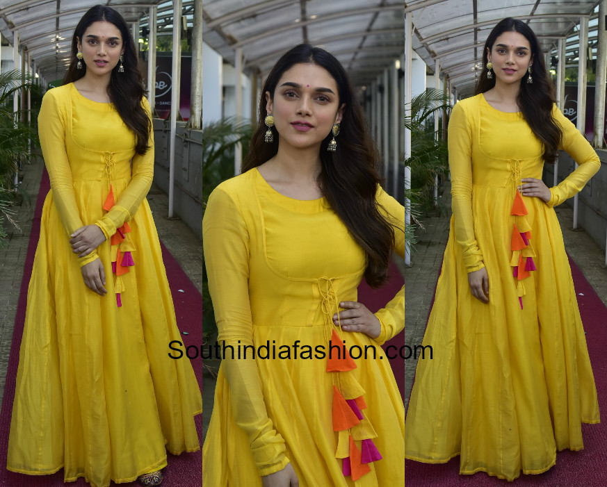 Aditi Rao Hydari in Vasavi The Label for her upcoming movie promotions