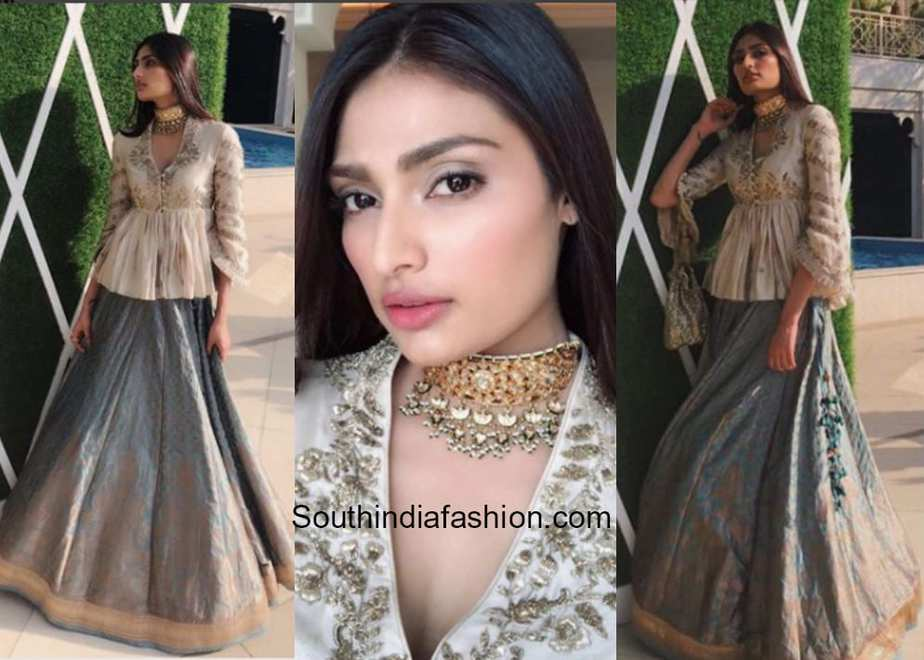 Athiya Shetty in Jayanti Reddy Label for a sangeet event