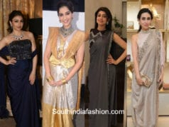 Celebrities in stylish saree drapes