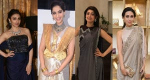 Celebrities in stylish saree drapes