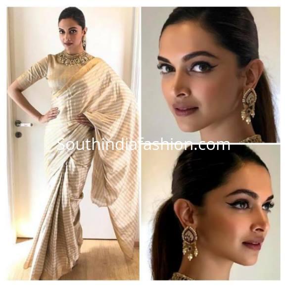 Deepika in winged eyeliner