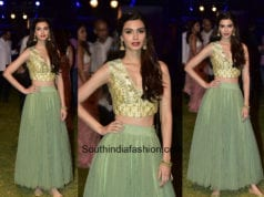 Diana Penty in Anita Dongre at Lakme Fashion Week 2018