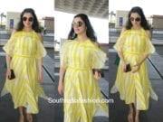 Divya Khosla Kumar in Bennch at the airport