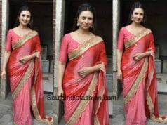 Divyanka Tripathi in an ombre shaded saree