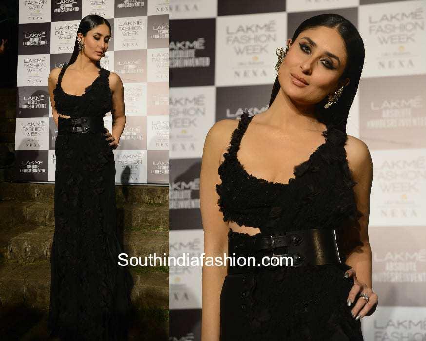 Kareena Kapoor in Anamika Khanna at Lakme Fashion Week 2018
