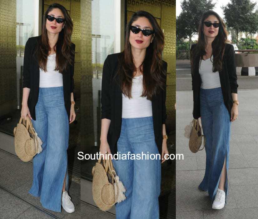 Kareena Kapoor in western wear at the airport