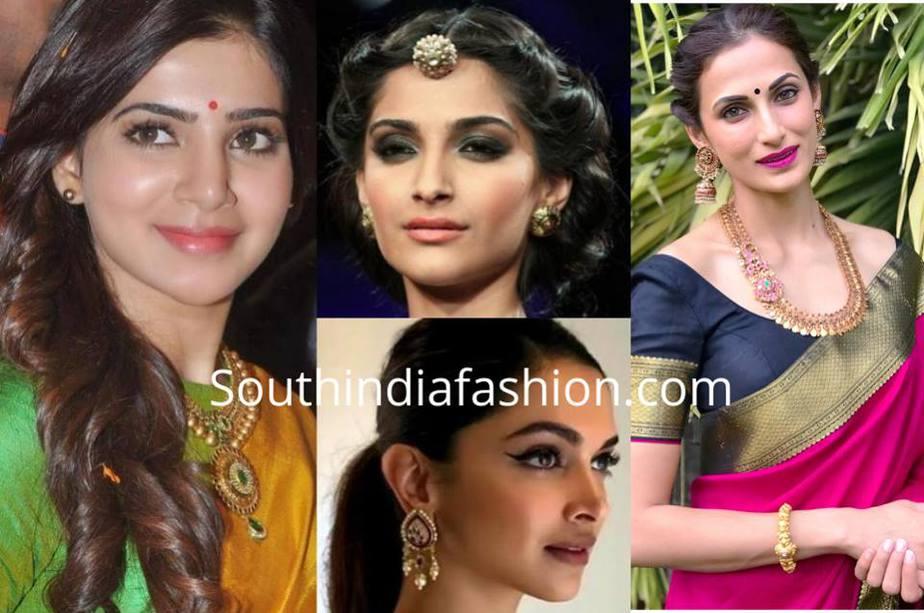 Makeup looks for saree