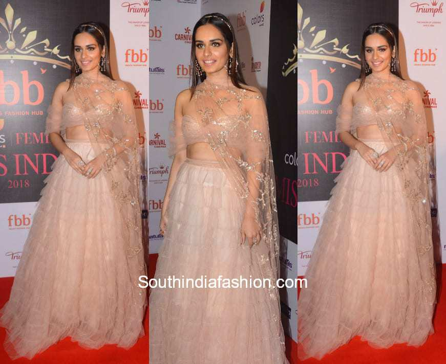Manushi Chhillar in Shehlaa Khan for Miss India Organisations' 55th Anniversary