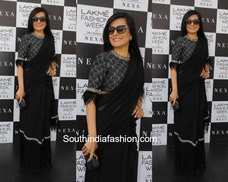 Mini Mathur in Ridhi Mehra at Lakme Fashion Week 2018