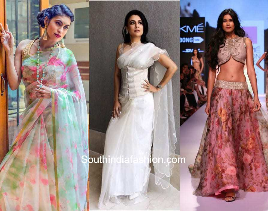 Organza Indian Outfits