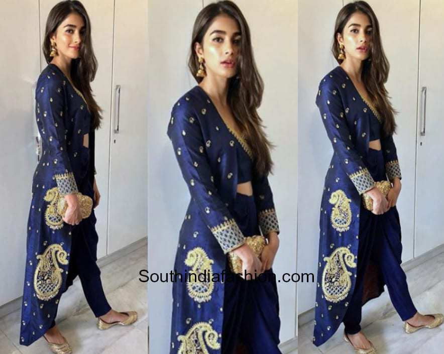 Pooja Hegde in Tisha Official for a mehendi function