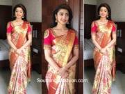 Pranitha Subhash in a kanjeevaram saree