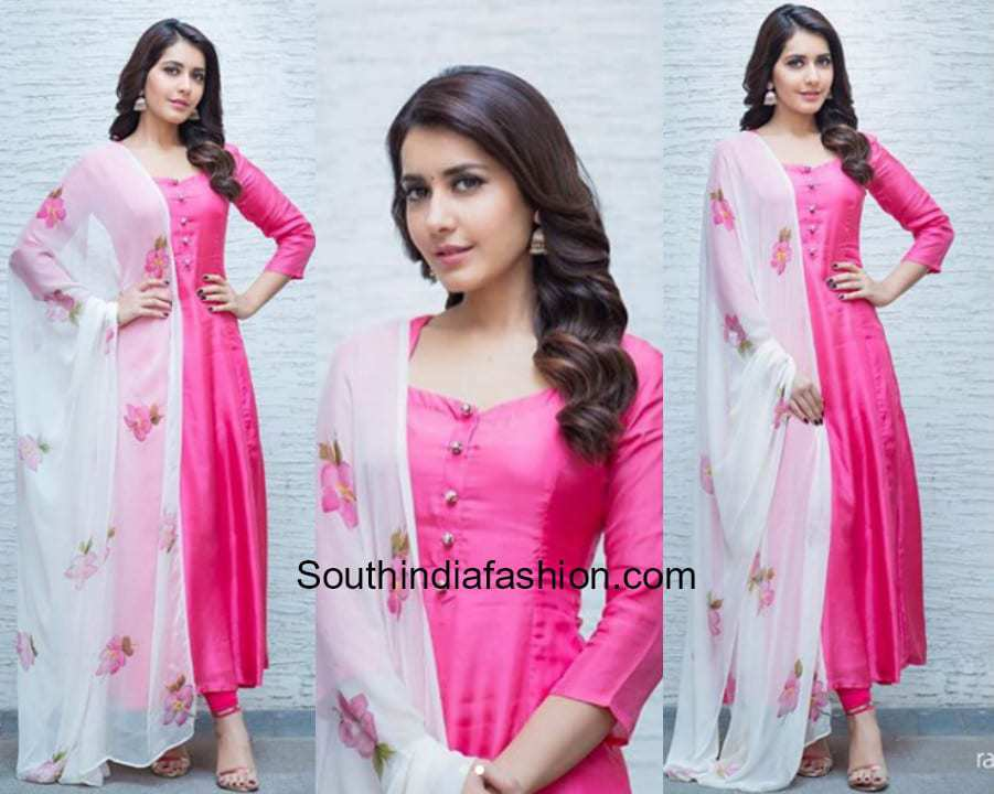 Raashi Khanna in Picchika for Tholi Prema Interviews