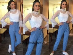 Rakul Preet Singh in Madison On Peddar and SR Store for Aiyaary Promotions