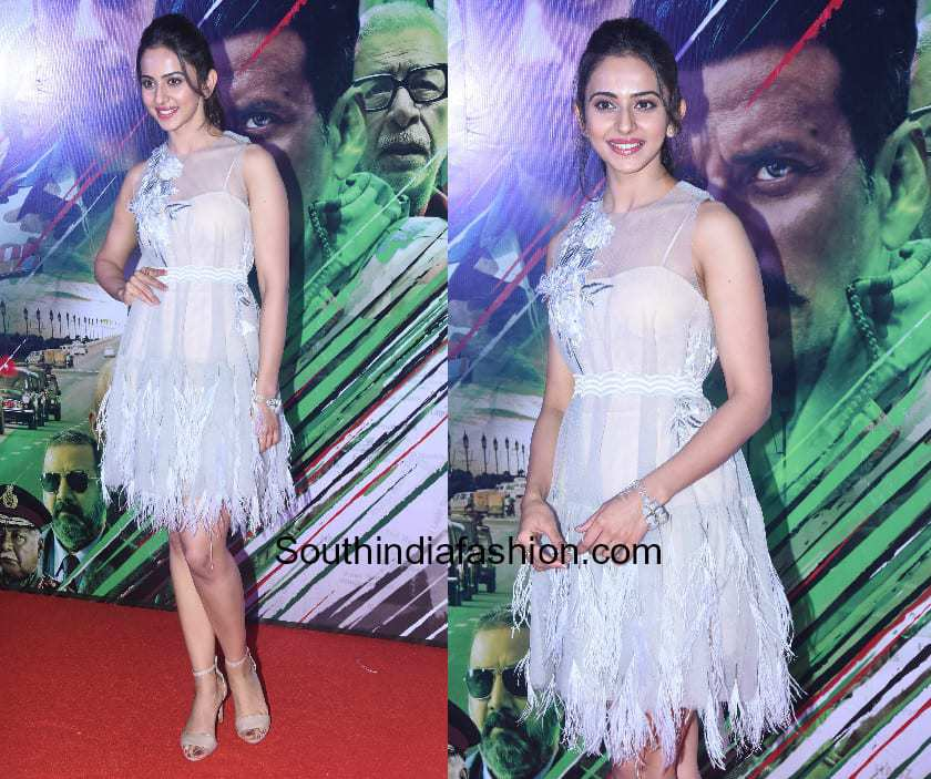 Rakul Preet Singh in a fringed dress by Shriya Som
