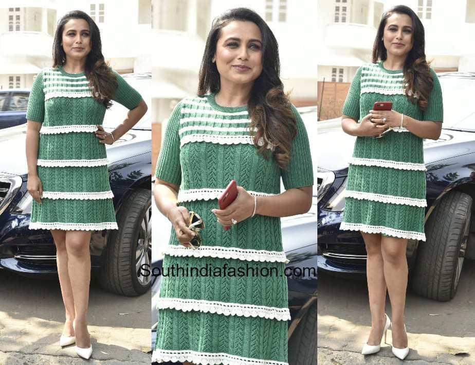 Rani Mukherjee in Red Valentino for Hichhki Promotions