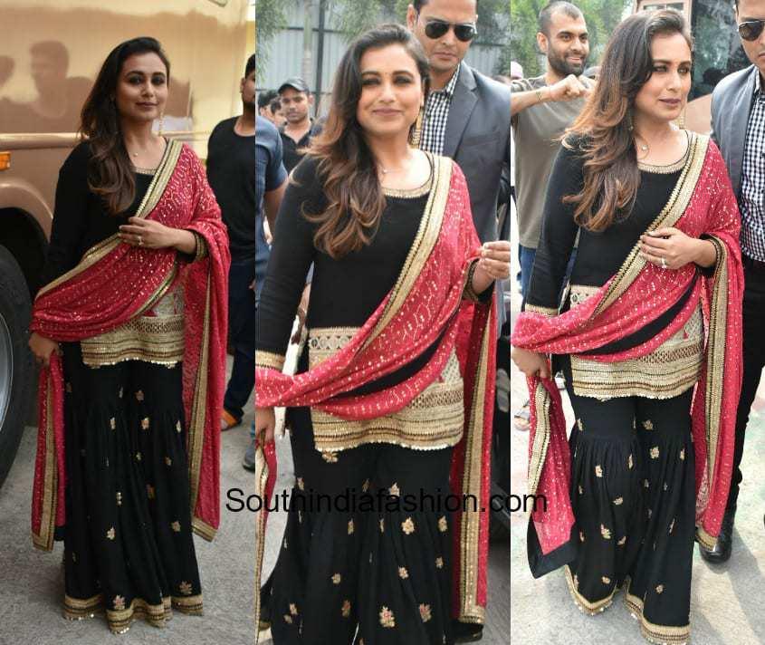 Rani Mukherjee in Sabyasachi for the promotions of Hicchki